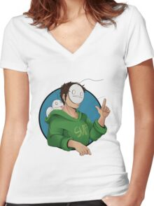 Cry and a Little Sup Women's Fitted V-Neck T-Shirt
