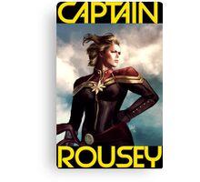 Captain Rousey Canvas Print