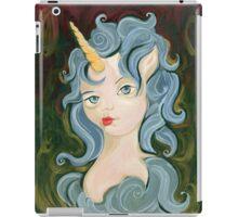 Blue Eunice - Big Eye Unicorn Elf Painting iPad Case/Skin