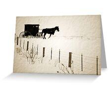 Amish in Chisholm Greeting Card