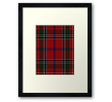 00409 Brown of Castledean Tartan  Framed Print
