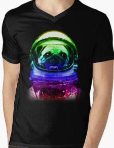 Pug-Stronaut Mens V-Neck T-Shirt