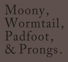 Mooney, Wormtain, Padfoot, & Prongs One Piece - Short Sleeve