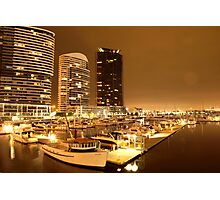 Lonely city in the darkest hour | Docklands, Melbourne Photographic Print