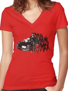 MY NAME IS MAX Women's Fitted V-Neck T-Shirt