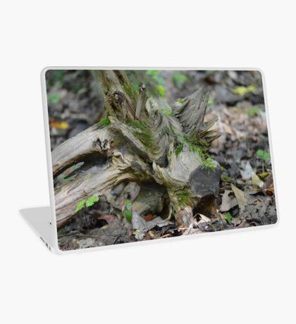 Green Tree Stump Laptop Skin