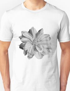 B&W vintage flower T-Shirt