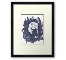 Game Over Captain Falcon Framed Print