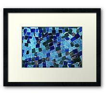 Colours of the ocean Framed Print
