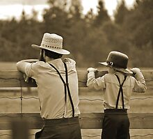 Amish Father and Son by Diane Blastorah