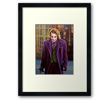 The Joker painting Framed Print