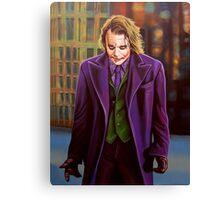 The Joker painting Canvas Print