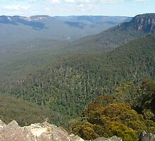 Looking from Wentworth Falls to Narrowneck, Katoomba by orkology