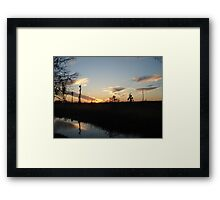 Sunset over Econfina Creek 2/11/2011 Framed Print