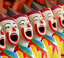 Laughing Clowns by Jennifer Saville