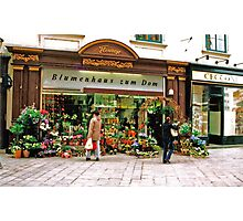 flower shop, Vienna, Austria Photographic Print