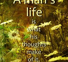 a man's thoughts by vigor