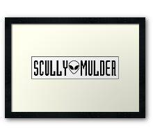 X Files- Scully & Mulder Framed Print