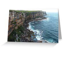 North Head cliffline 2004 Greeting Card