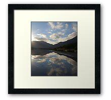 Sunrise Reflection Tidal River Framed Print