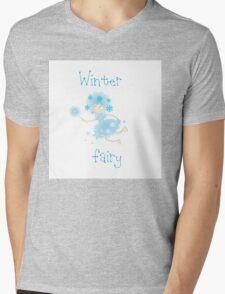 Winter fairy. Mens V-Neck T-Shirt