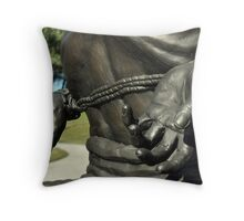 Military- Bound Hands of the Past Throw Pillow