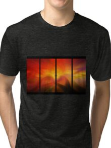 divided amber waves Tri-blend T-Shirt