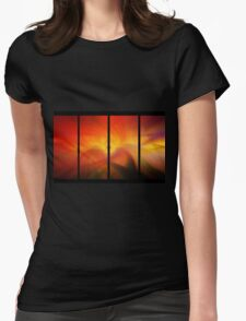divided amber waves Womens Fitted T-Shirt