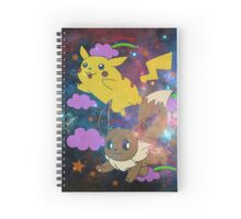 Pikachu in the sky with Evee Spiral Notebook