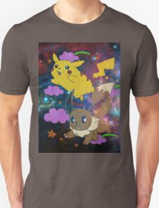 Pikachu in the sky with Evee T-Shirt