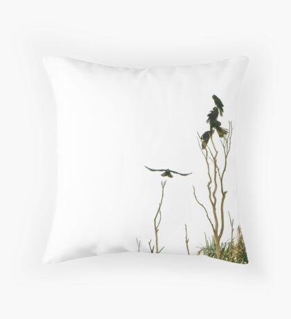 Yellow-Tailed Black Cockatoos Throw Pillow