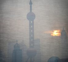 Pearl Tower - Shanghai by pennyswork