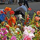 Artificial Flower Market, Mumbai, India by RIYAZ POCKETWALA