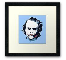 Joker (Heath Ledger) Framed Print