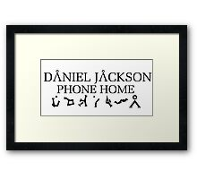 Stargate - Daniel Jackson Phone Home Framed Print