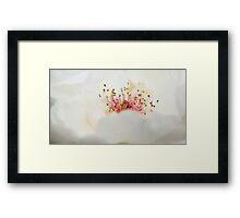 Milky froth Framed Print