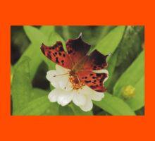 Question Mark Butterfly on Flower Kids Tee