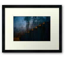 Dark Stair Framed Print
