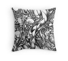 Doodle 1- Life Throw Pillow