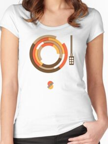 Modernist Vinyl Women's Fitted Scoop T-Shirt