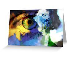 Sunflower eye Greeting Card
