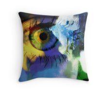 Sunflower eye Throw Pillow