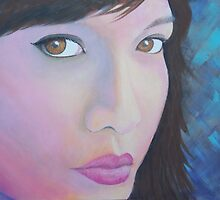 In the Pink in shades of blue by TedReeder