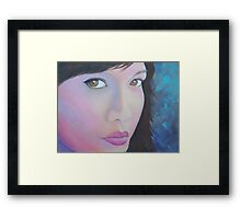 In the Pink in shades of blue Framed Print