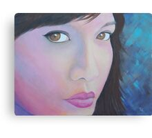 In the Pink in shades of blue Canvas Print