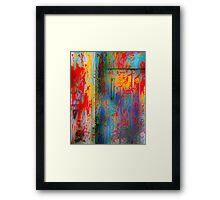 Happy Door Framed Print
