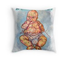Pregnancy: Honestly, Do You Think Your Baby Cares About Labels? Throw Pillow
