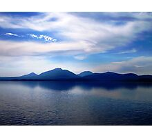 Forever Blue- view beyond Hells Gates towards the Gordon RIver - Strahan Tasmania. Photographic Print