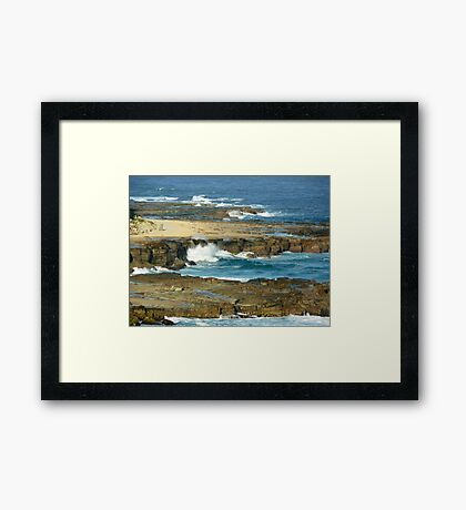 Bar Beach, NSW, Australia Framed Print