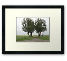 Lonely Trees in Dutch landscape Framed Print